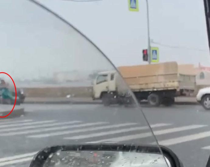 A pedestrian was hit by a car