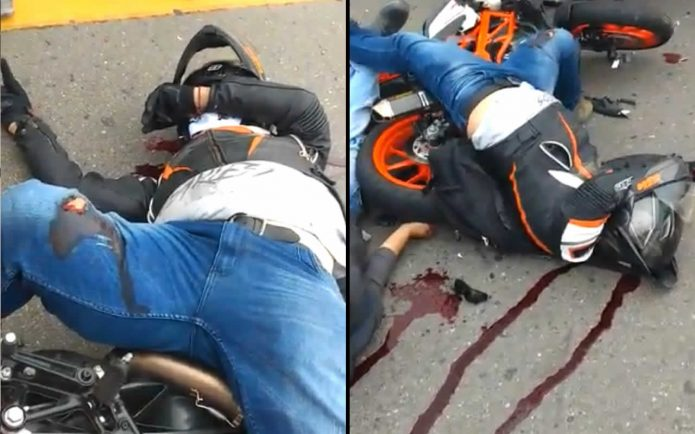The consequences of an accident with motorcyclists