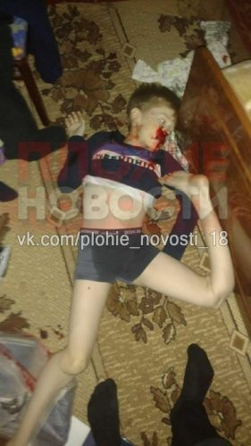 The corpse of 9-year-old Dima Makarov
