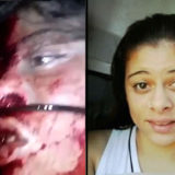 Girl cut throat
