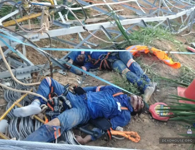 Catastrophe in Brazil. The corpses of the workers