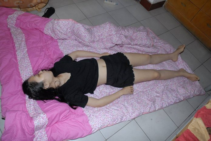 Dead Chinese woman