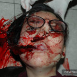 Bloody corpse of a girl