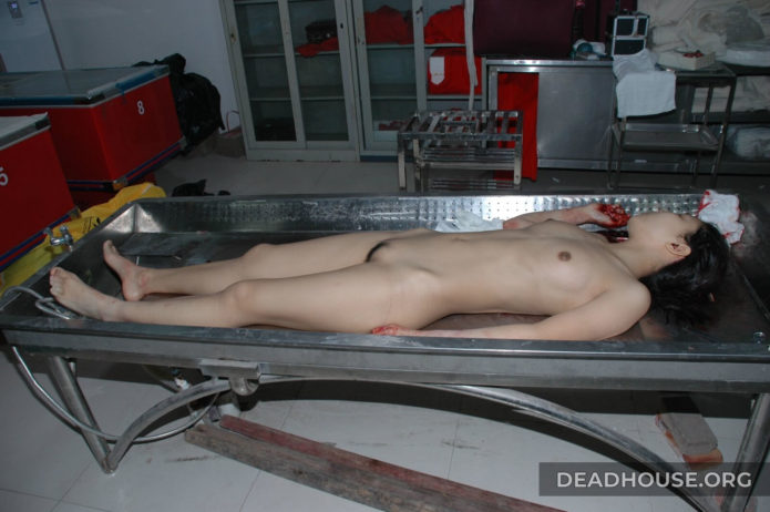 Corpses of women in the morgue