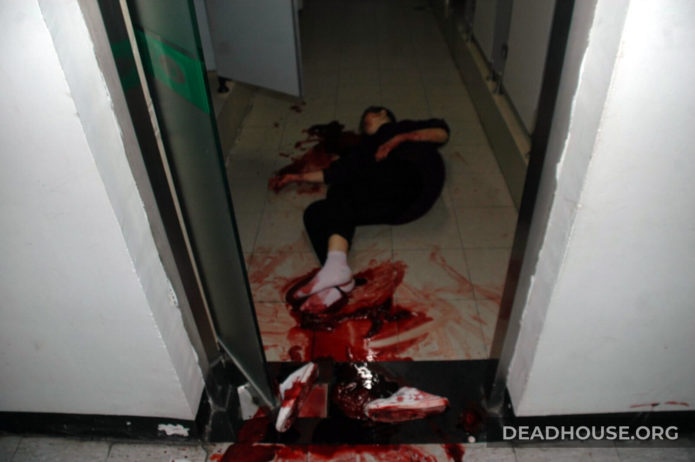 Bloodied corpse of the girl