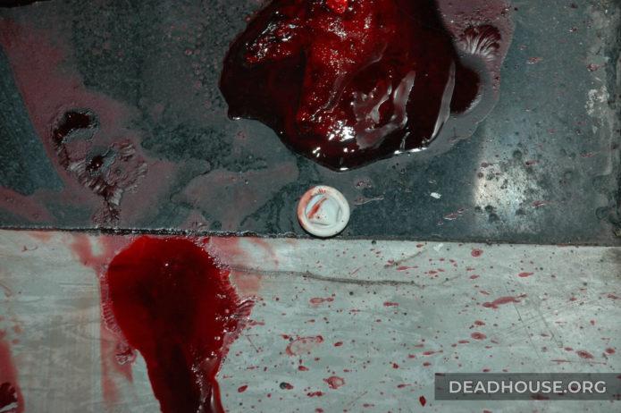 Bloody condom
