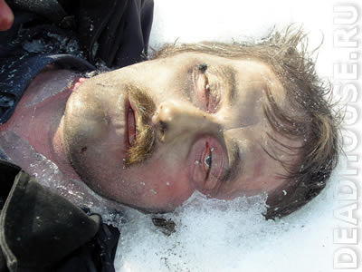 Corpse in the winter