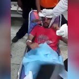 Removing the knife from the eye
