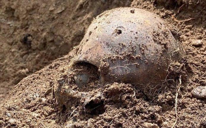 Victims of Stalinist repression. skull