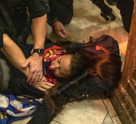 A woman was killed during the storming of the Capitol