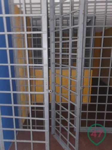 Steel bars of an underground prison
