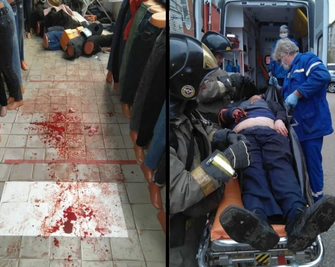 Man blew up a grenade in the market