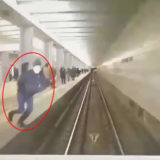 Suicide in the subway. The dude jumped under the train