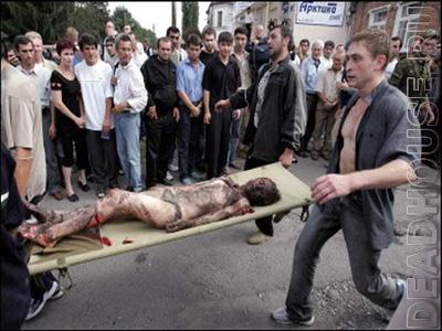 Beslan. Corpses of children