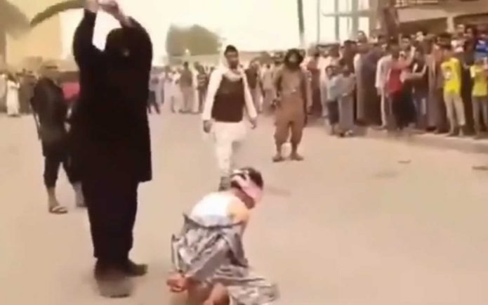 Execution. Public beheading
