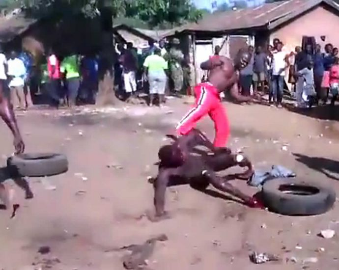 Execution of a rapist in Africa