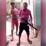 Shot off the head with a shotgun