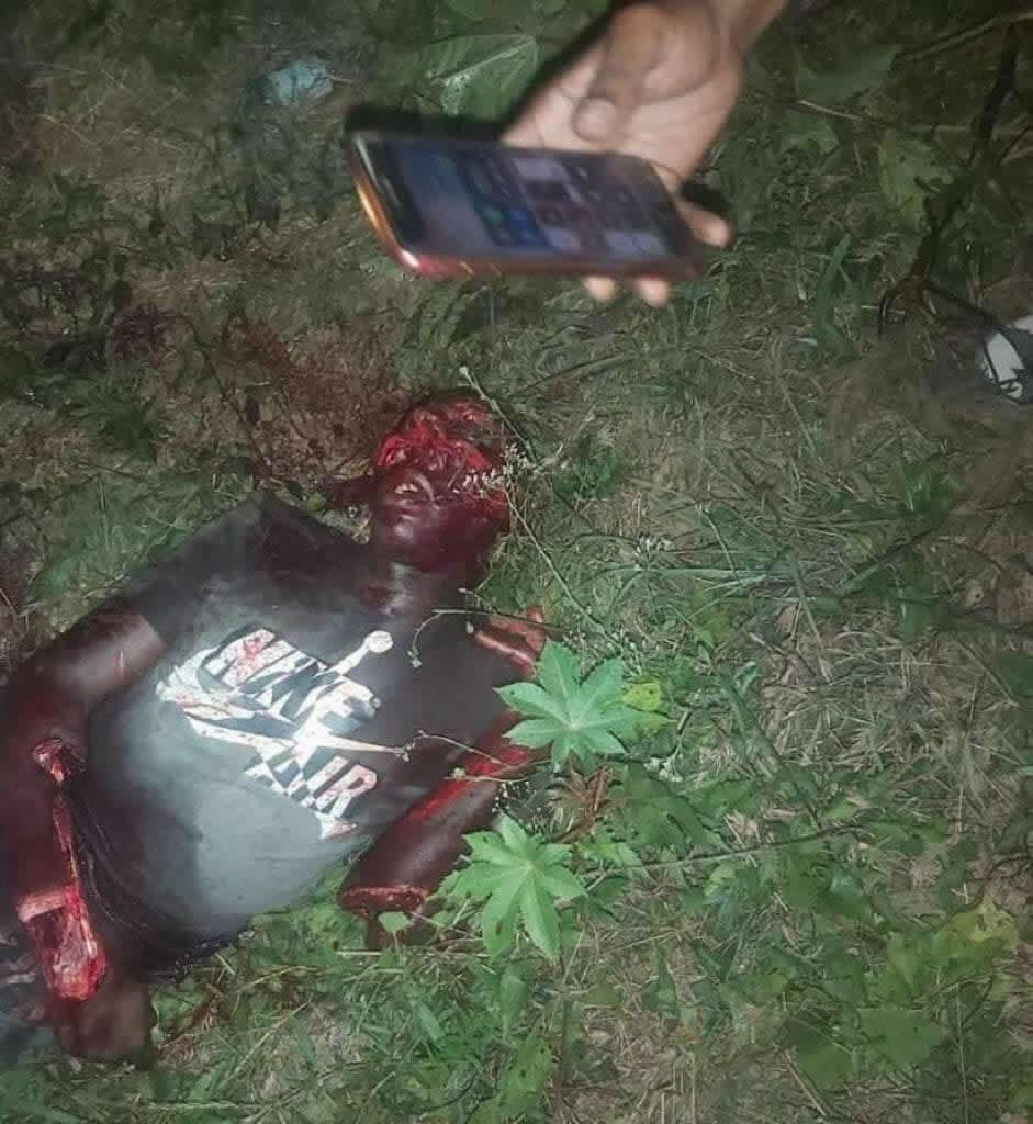 Thief's mutilated corpse